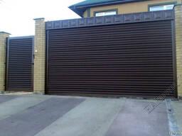 Рулонные стальные гаражные ворота(въездные) TM Hardwick