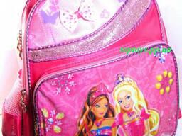Рюкзак ранец для Девочки школьный. Розовый, с принцессами