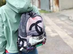 Рюкзак Шанель Chanel Беж. копия Шанель , chanel граффити рюк