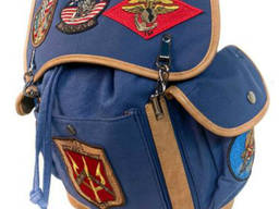 Рюкзак Top Gun Canvas Backpack With Patches (синий)