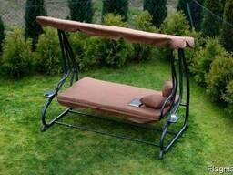 Садовая качеля, гойдалка диван, 4-х местна раскладная Poland