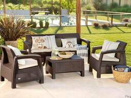 Садовая мебель Corfu Triple Set Allibert, Keter - фото 1