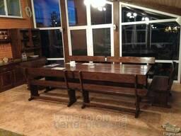 Садовая мебель из массива древесины
