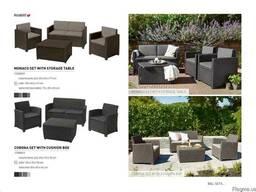 Садовая мебель Monaco Set With Storage Table Allibert, Keter - фото 2