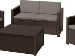 Садовая мебель Monaco Set With Storage Table Allibert, Keter - фото 7