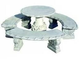 Садово-парковый классический круглый комплект мебели