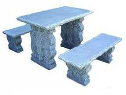 Садово-парковый классический прямоугольный комплект мебели