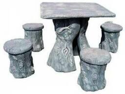Садово-парковый комплект мебели под дерево маленький