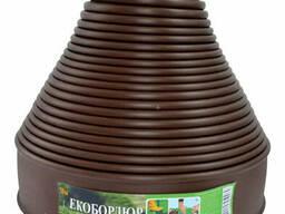 """Садовый бордюр """"ЭкоБордюр - Оптимальный"""", 20 м*11 см (коричневый), Ø 12 мм"""