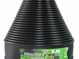 """Садовый бордюр """"ЭкоБордюр - Оптимальный"""", 20 м*11 см (черный), Ø 12 мм"""
