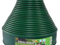 """Садовый бордюр """"ЭкоБордюр - Оптимальный"""", 20 м*11 см (зеленый), Ø 12 мм"""