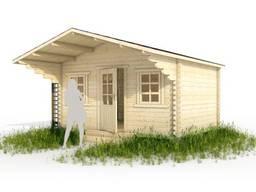 Садовый домик из бруса 3. 8х3м