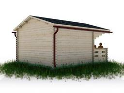 Садовый домик из бруса 3. 8х4. 5м