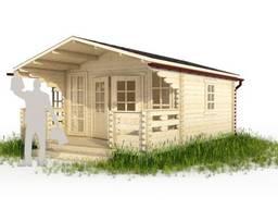 Садовый домик из бруса 3. 8х5. 3м с верандой