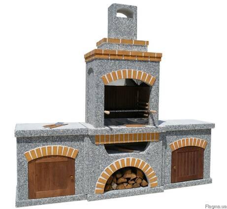 Садовый камин барбекю для беседки, уличная печь мангал