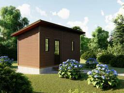Садовый каркасно-щитовой дом 6х2,4 м без веранды в. ..