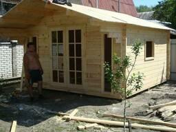 Садовые домики из бруса толщиной 42мм