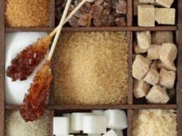 Сахар тростниковый нерафинированный, песок, рафинад, колотый