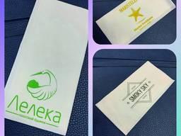 Салфетки и крафт пакеты от произ-ля с лого Вашей компании