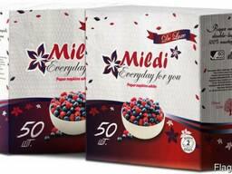 Салфетки MILDI 330х330 50 листов двухслойные белые