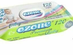 Салфетки влажные антибактериальные Ozone Premium для детей (120шт. )