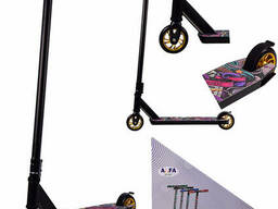Самокат трюковый 2-х колёсный ALFA Sport Чёрный (TR21030)