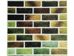 Самоклеющаяся декоративная 3D панель под кирпич зеленый микс 700x770x4мм