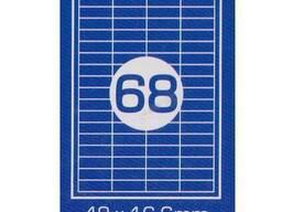 Самоклеющаяся этикетка 68 ячеек
