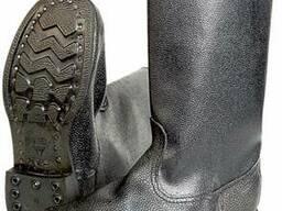Сапоги рабочие гвоздевого метода крепления юфть - кирза