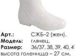 Сапоги резиновые белые(пвх) женские для пищевой промыш-сти