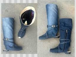 Сапожки джинсовые