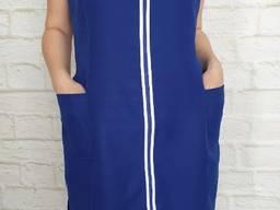 Сарафан для продавцов синий. Ткань: габардин.