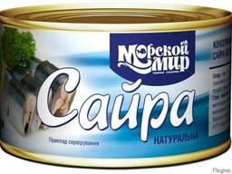 Сайра натуральная в масле, 240г.