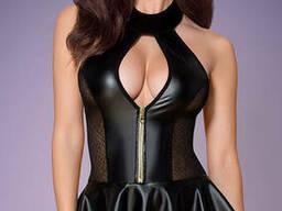 Сексуальний корсет під шкіру Obsessive 859-COR corset, Чорний, L/XL