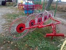 Сеноворошилка навесная на мини трактор 5-ти колёсная (Польша