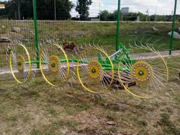 Сено ворошилка (валковая) «Солнышко» на 4 колеса фирмы Agrom