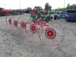 Навесная сеноворошилка на минитрактор 5-ти колёсная (Польша