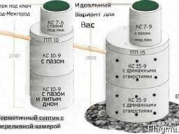 Септик,сливная яма с бетонных колец,цена