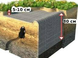 Сетка от кротов кв.6х8х1,3мм 2х30м=60м. кв.