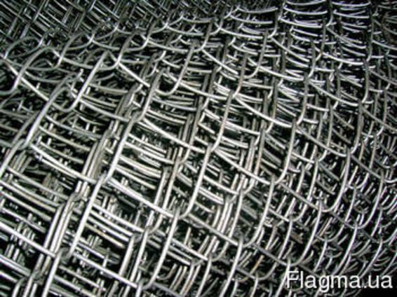 Сетка плетеная рабица черная 25x25*1,6 размер 1,5x10