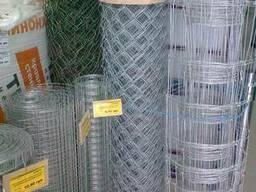 Сетка рабица оцинкованная, 1, 8мм*50*50мм*1, 5м*10м. (15м²/рул