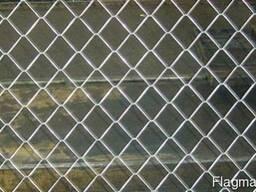 Сетка рабица оцинкованная #35мм/Ø2,0мм/h1,8м/10м. п
