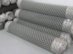 Сетка рабица 50х50х2 мм, оцинкованная, 1, 2 м, купить, цена,
