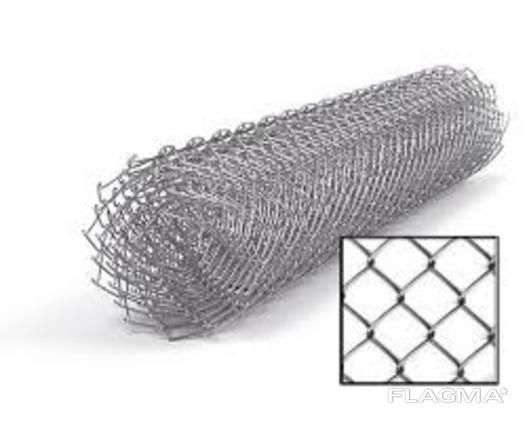 Сетка «Рабица» оцинкованная 60х60х2,5 h=1,5м рулон 10м