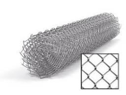 Сетка «Рабица» оцинкованная 60х60х2, 5 h=1, 5м рулон 10м