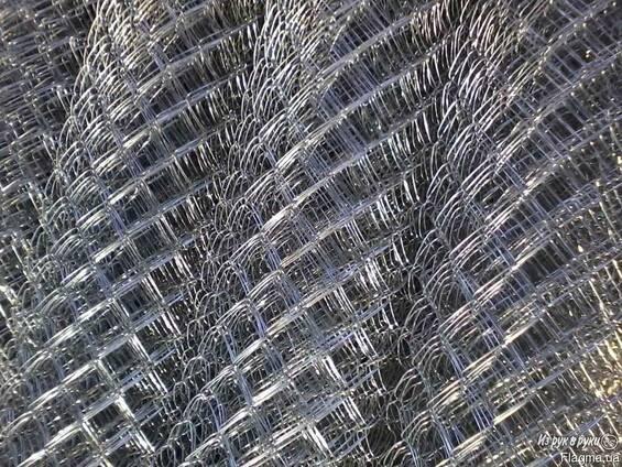 Сетка рабица оцинкованная ячейка:50х50х1,8мм; рулон:1,5х10м
