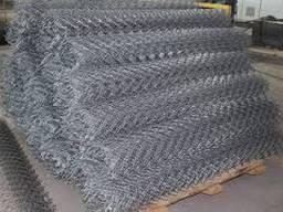 Сетка плетеная рабица оцинкованная 50х50х2, 5 мм