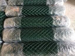 Сетка рабица полимерная (зеленая) h1,2м