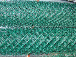 Сетка рабица в ПВХ, ячейка-55х55х2, 5мм, купить, цена, гост