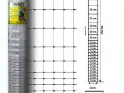 Сетка шарнирная150/21/15 высота 1.5м длина 50м (облегченная) оцинкованная Унипласт